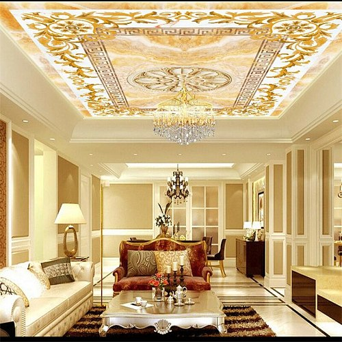 wellyu Custom large wallpapers 3d European pattern jade ceiling mural TV background living room decorative painting 3d wallpaper
