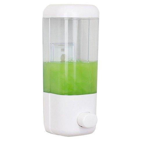 Soap Dispenser Wall-Mounted Kitchen Bathroom Multi-purpose Convenient Manual Press Liquid Soap Dispenser Shampoo Storage Box