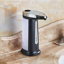 400Ml Liquid Soap Dispenser Automatic Touchless ABS Electroplated Sanitizer Smart Sensor Dispensador Bottle For Kitchen Bathroom