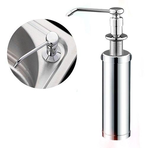 Copper head + stainless steel 220ml Manual push sink Soap Dispenser capacity detergent bottle for kitchen bathroom supplies