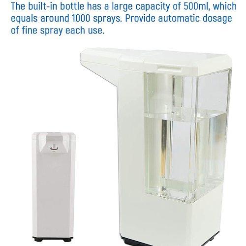 Intelligent Automatic Alcohol Dispenser Touchless Spray Machine Sensor Press Soap Dispenser 500Ml Dispenser Suitable for Home