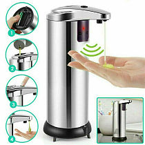 250ml Stainless Steel Automatic Soap Dispenser Handsfree Automatic IR Smart Sensor Touchless Soap Liquid Dispenser