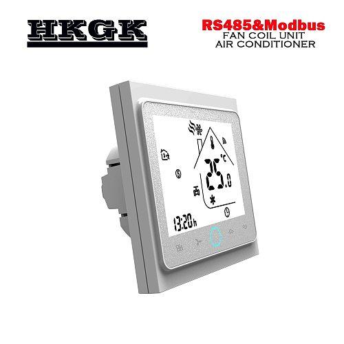 Modbus& RS485 RTU communication2Pipe smart heat cool temp thermostat  95-240VAC,24VAC