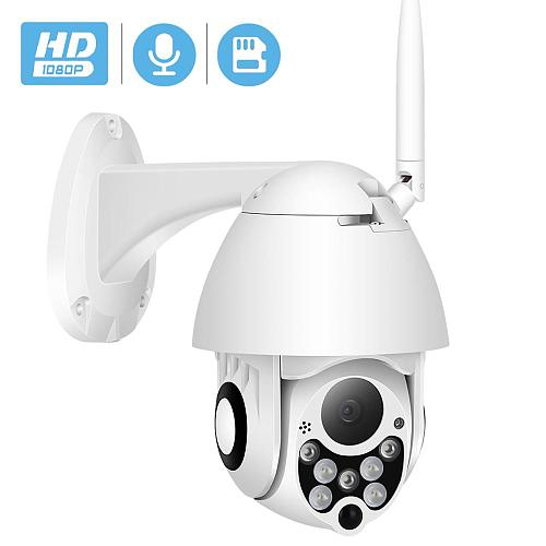 BESDER Mini 1080P PTZ IP Camera Cloud Storage 4X Digital Zoom Speed Dome CCTV Security Cameras Outdoor Two Way Audio Camera WiFi