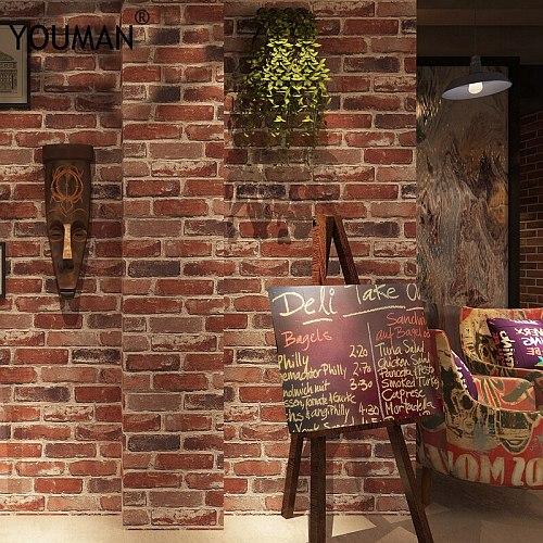 Brick wallpaper 3d Suppliers High Quality 3d brick wallpaper stone wall paper faux brick wallpaper 3d Living Room Sofa wallpaper