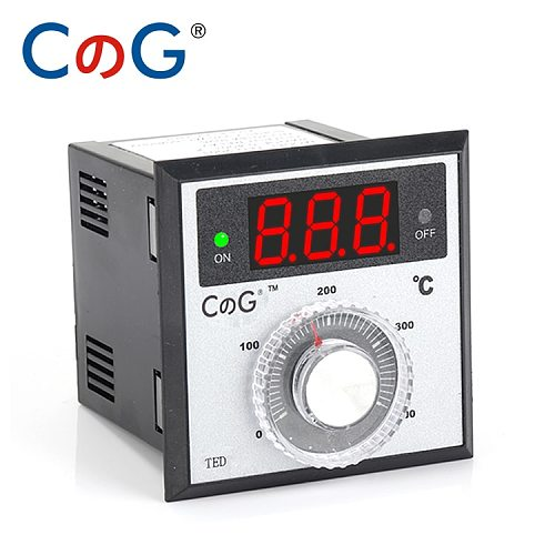 TED 72*72mm K J PT100 Type AC220V 110V 24V 380V Knob 0-100 300 400 600 Degree Digital Thermostat Powered Temperature Controller