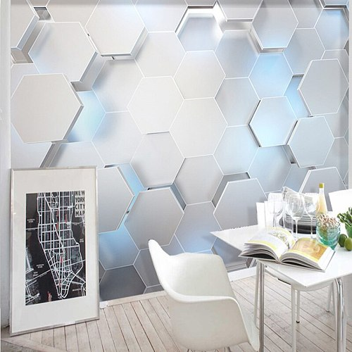 Custom Any Size Mural Wallpaper 3D Stereo Geometry Modern Wall Painting KTV Bar Background Wall Decor Wall Papers For Walls 3 D