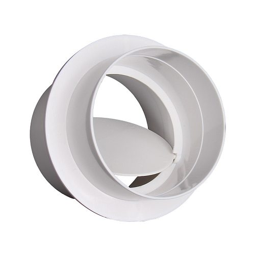 PVC Exhaust Fan Check Valve for Bathroom Kitchen One-wat Valve Round Pipe Backdraft Damper 80-250mm ABS Ventilation Grill system