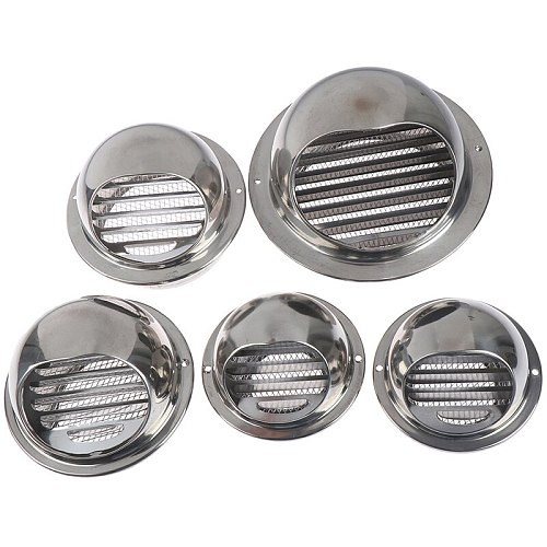 70/80/100/120/150mm Wall Air Vent Grille Ducting Ventilation Extractor Outlet Louvres Hemisphere
