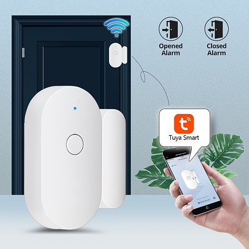 Tuya Smart WiFi Door Sensor Door Open / Closed Wireless Independent Detectors Wifi app Notification Alert Security Alarm