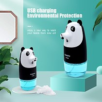 Free Shipping Automatic Foam Soap Dispenser Cartoon Induction Liquid Hand Washing Machine USB Charge Intelligent  Hand Washing