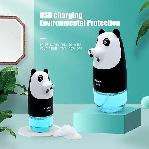 Free Shipping Automatic Foam Soap Dispenser Cartoon Induction Liquid Hand Washing Machine USB Charge Intelligent  Hand Washing