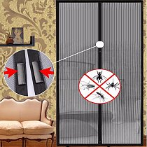 1 Set Summer Anti Mosquito Insect Fly Bug Curtains Net Automatic Closing Door Screen Kitchen Curtains ployester fiber Curtains