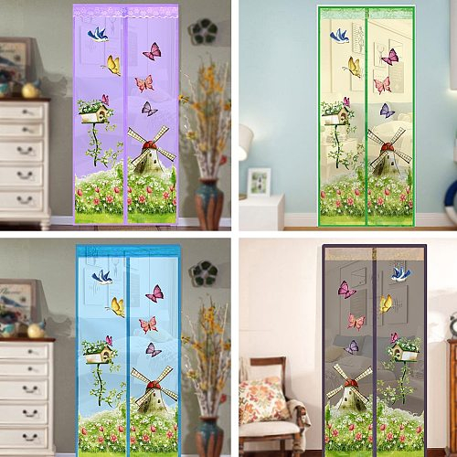 NEW Mesh Door Magic Curtain Magnetic Snap Fly Bug Insect Mosquito Screen Net Bedroom kitchen Guard Door Curtain Anti Insect Fly