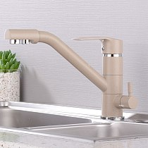 Kitchen Faucet black brushed 360 rotation kitchen sink faucet with filtered water mixer taps faucet kitchen sink tap