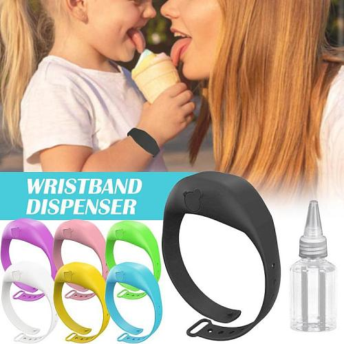 15ml Reusable Gel Dispenser Bracelet Hydroalcoholic Gel Wristbands Hand Sanitizer Distributor Desinfectant Main Wrist Dispensers