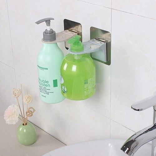 Liquid Soap Holder Hanging Rack Shower Gel Bottle Holder Strong Bathroom Shampoo Hook Household Bathroom Hardware 2020