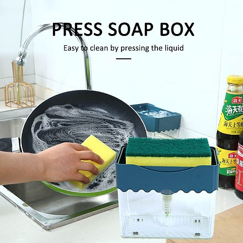 Liquid Soap Dish Dispenser Liquid Soap Dispensers 2 In 1 Soap Pump Dispenser Sponge Holder For Dish Soap And Sponge For Kitchen