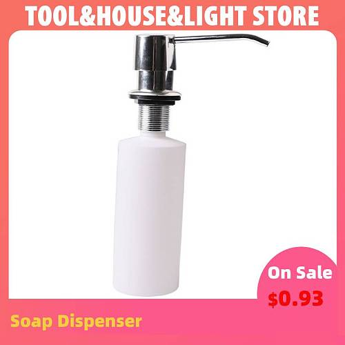 White Liquid Soap Dispenser Lotion Pump Cover Built in Kitchen Sink Countertop Cooking Tool Utensils Kitchen Accessories