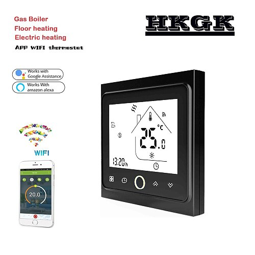 24V 95-240VAC WiFi Smart thermostat-Temperature Controller water heat / Electric heat / Gas Boiler ,Works with Alexa Google Home