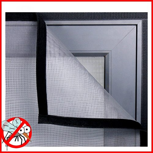 Insect Window Screen Mesh,Indoor Anti Fly Curtain Tulle Summer Invisible Anti-Mosquito Removable Washable Customize Screen Net