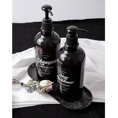 500ml Scandinavian Bath Shampoo Storage Bottle Travel Ins Simple Divided Bottle Shampoo Shower Gel