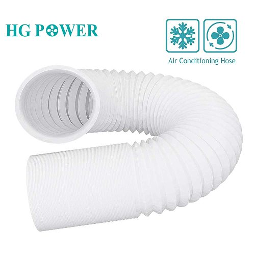4-6'' Plastic Air Conditioning Duct Hose Flexible Exhaust Tube Steel White Tube for Inline Fan Home Ventilation Air Fresh System