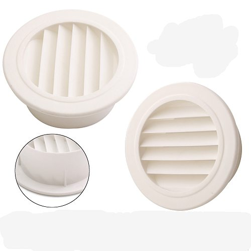Round Air Vent ABS Louver Grille Cover PP Ventilation Grille Air Grille 100mm Heating Cooling & Vents