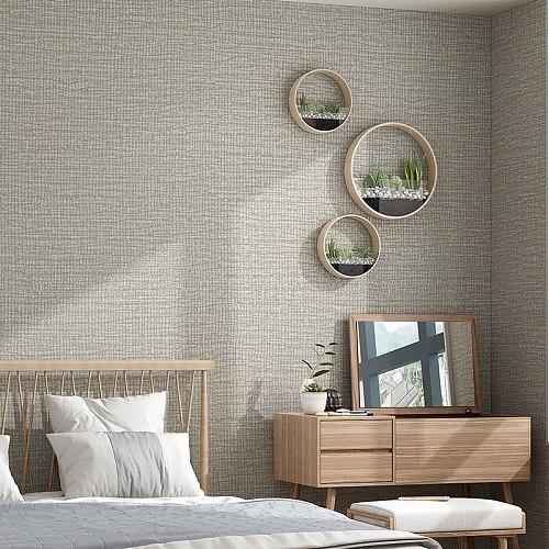 Simple Plain Metallic Grasscloth Textured Wallpaper  Dinning Room Bedroom Background Wall Paper Blue,Green,Beige