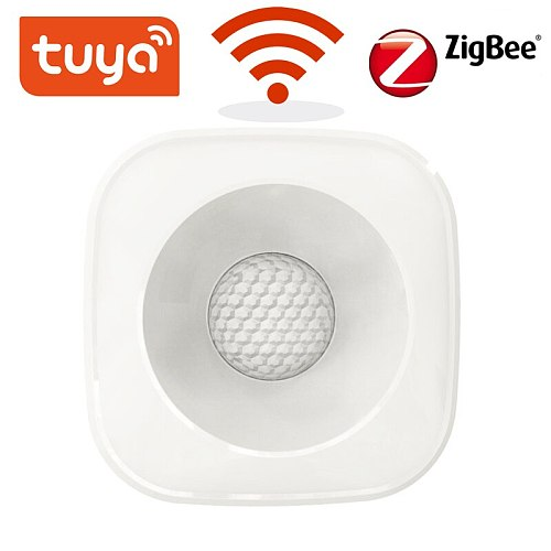 Tuya ZigBee/WiFi PIR Motion Sensor Wireless Infrared Detector Security Burglar Alarm Sensor Smart life APP Control Compatible