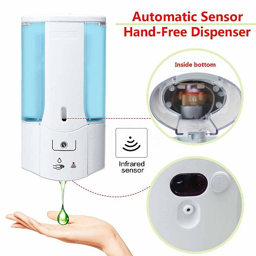 400mL Wall Mounted Automatic Soap Dispenser Infrared Induction Smart Liquid Soap Dispenser For Kitchen Bathroom Accessory