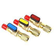 1pc R410A Refrigerant Valve AC Charging Hoses Brass Straight Ball Valves for Refrigeration Manifold Gauges Mayitr