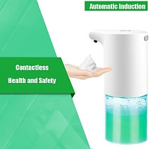 350ML Automatic Infrared Smart Sensor Foam Soap Dispenser USB Charging Handsfree Touchless Bubble Machine FOR Bathroom Kitchen