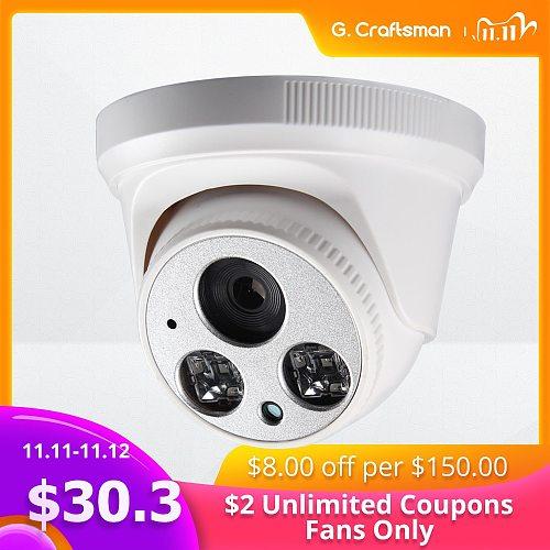 G.Craftsman Audio 5MP POE Full-HD IP Camera Dome Infrared Night Vision CCTV Video Surveillance Security P2P Remote