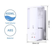 KEMAIDI Automatic Soap Dispenser Touchless Sensor Hand Sanitizer Shampoo Detergent Dispenser Wall Mounted For Bathroom Kitchen