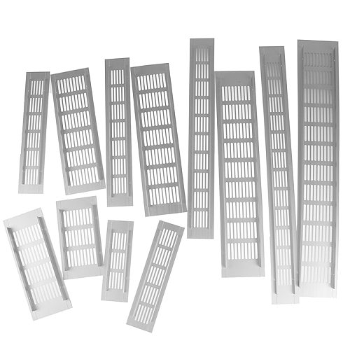Vents Perforated Sheet Aluminum Alloy Air Vent Perforated Sheet Web Plate Ventilation Grille Vents Perforated Sheet Width 5/8cm