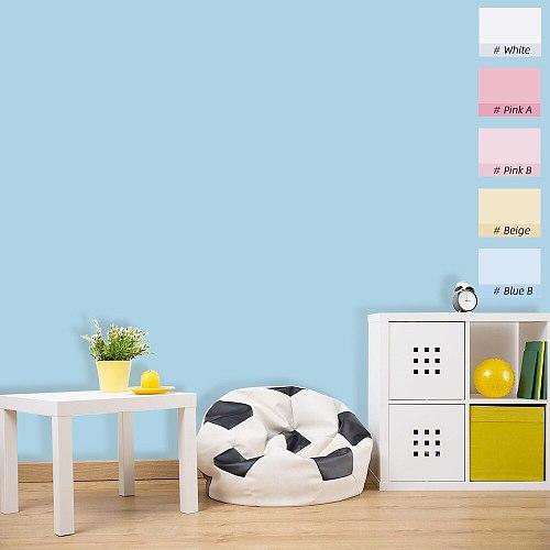 5M Macaron Solid Color PVC Waterproof Self adhesive Wallpaper Living Room Kids Bedroom Decor Vinyl Contact Paper Kitchen Cabinet