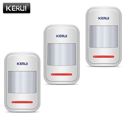 KERUI Motion Sensor Detector For GSM PSTN Home Alarm System Czujnik Ruchu 3Pcs/lot Garage Alarm Wireless Infrared PIR Sensor
