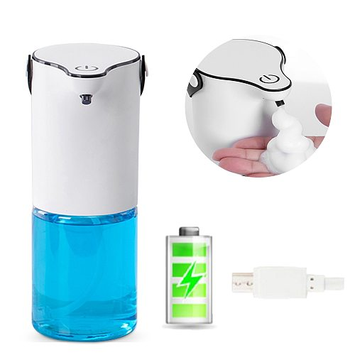 Free Shipping Automatic Foam Soap Dispenser 320ml Intelligent foam USB Charge Touchless Sensor Liquid Hand Washing Machine
