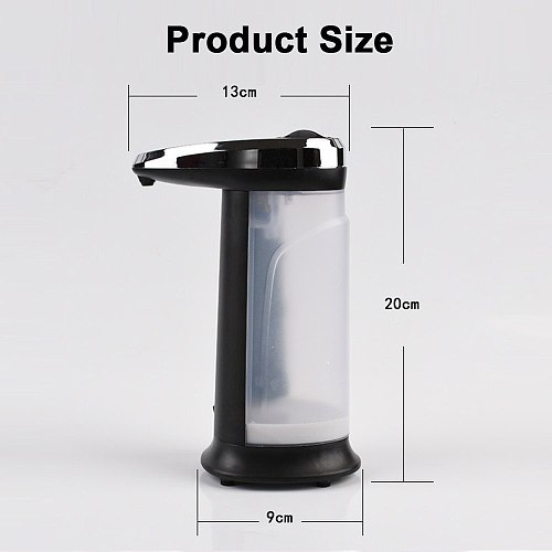 400ML Automatic Soap Dispenser Smart Infrared Sensor Touchless Shower Gel Liquid Foam Dispensador Bottle for Kitchen Bathroom