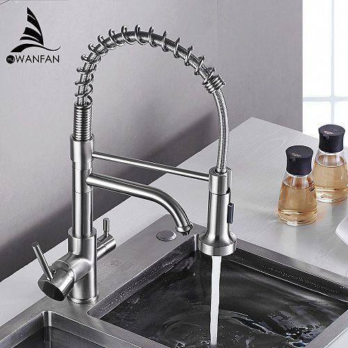 Kitchen Faucets torneira para cozinha de parede Crane For Kitchen Water Filter Tap Three Ways Sink Mixer Kitchen Faucet WF-0199