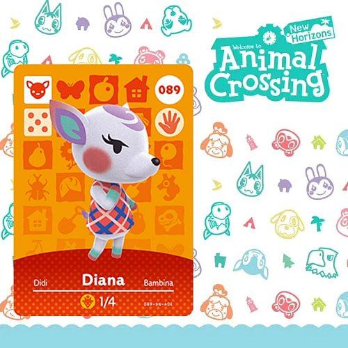 089 Diana Amiibo Animal Crossing Card Set Amiibo Figures New Horizons NFC for Switch NS Games Amibo Series 1 2 3 4 Villager