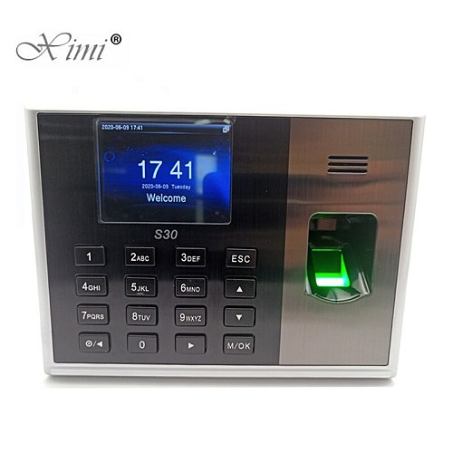 S30 TCP/IP Biometric Fingerprint Time Attendance With 13.56MHZ MF IC Card Reader Fingerprint Time Recording Time Clock