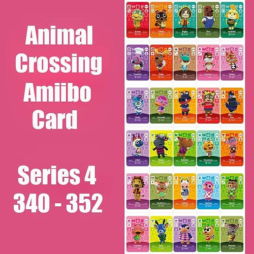 Series 4 (340 to 352) Animal Crossing Card Amiibo Card locks nfc Card Work for Switch NS Games Series 4 (340 to 352) New Leaf