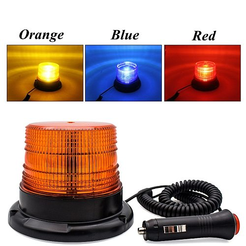 Warning Flash Beacon Emergency Indication LED Lamp Car Rotating Traffice Safety Light Magnet Ceiling Box Flash Strobe