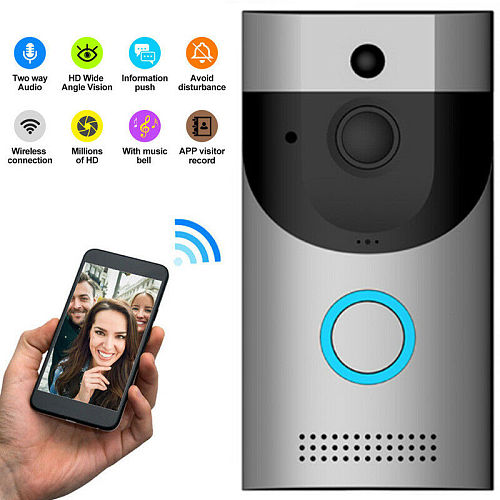 Anytek B30 Wireless WiFi Intercom Video Doorbell Camera + B10 Doorbell Receiver Set Door Bell Camera Wifi Video Night Vision