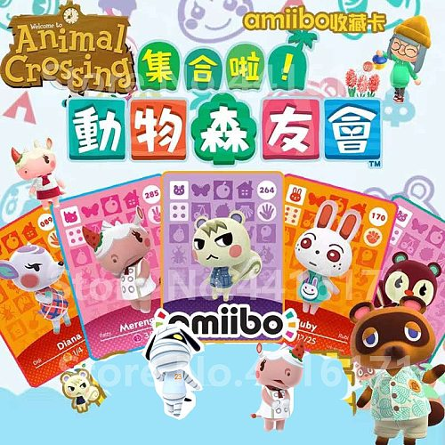 Animal Crossing New Leaf Welcome  Amiibo locks nfc Printing card Work for NS Games Leaf Welcome