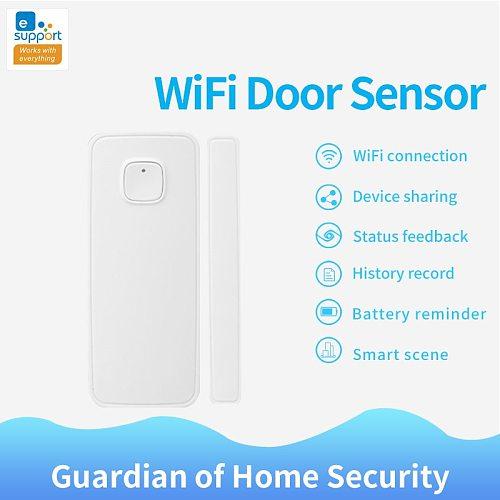 2020 New EWeLink Smart Home WiFi Door Sensor Door Home Security Alarm Detectors APP Remote Monitoring Door Opening Notification