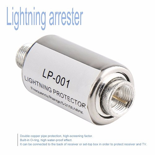 lighting protector coaxial satellite TV lightning protection devices satellite antenna lightning arrester 5-2150MHz Wholesale