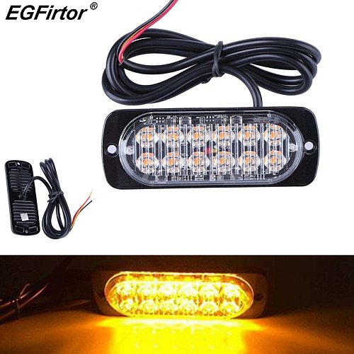 Traffic Safety Warning Lights 36W Emergency Flash Strobe Lamp Colorful Truck Warning Lamp 12LED Warning Beacon Flash